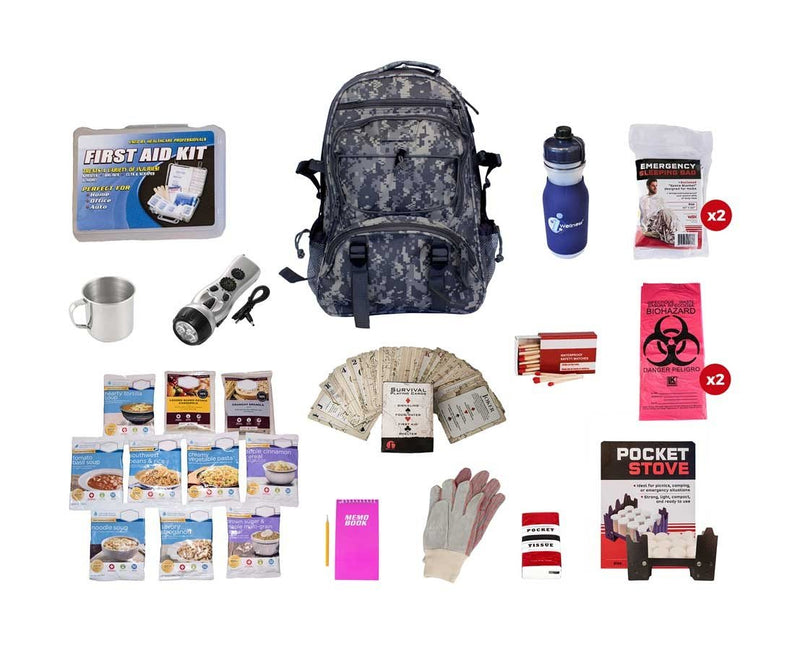 44 Meals Food Storage Survival Kit - Camo Bag