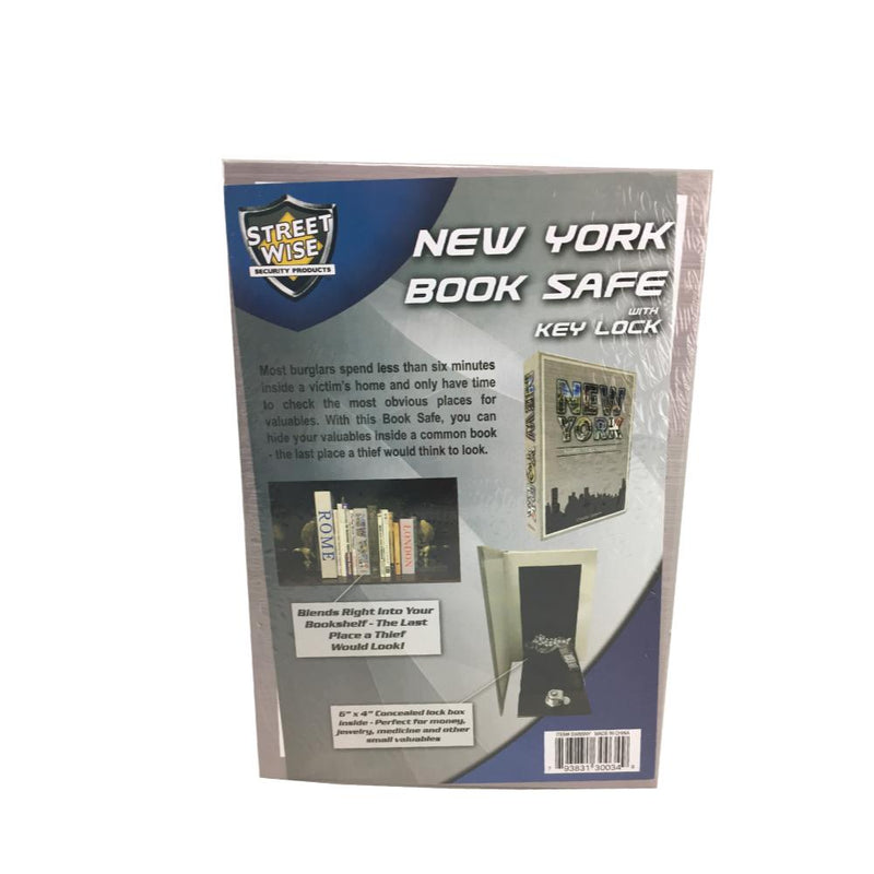 12 Units - Streetwise New York Book Safe with Key