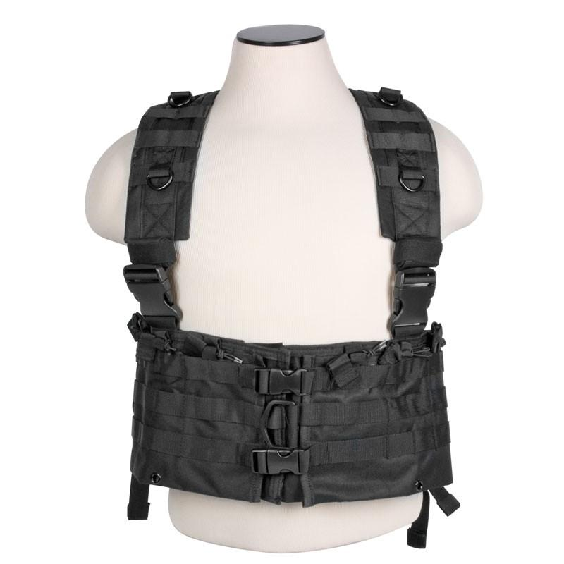 Tactical AR Black Chest Rig with PALS Webbing and Much More