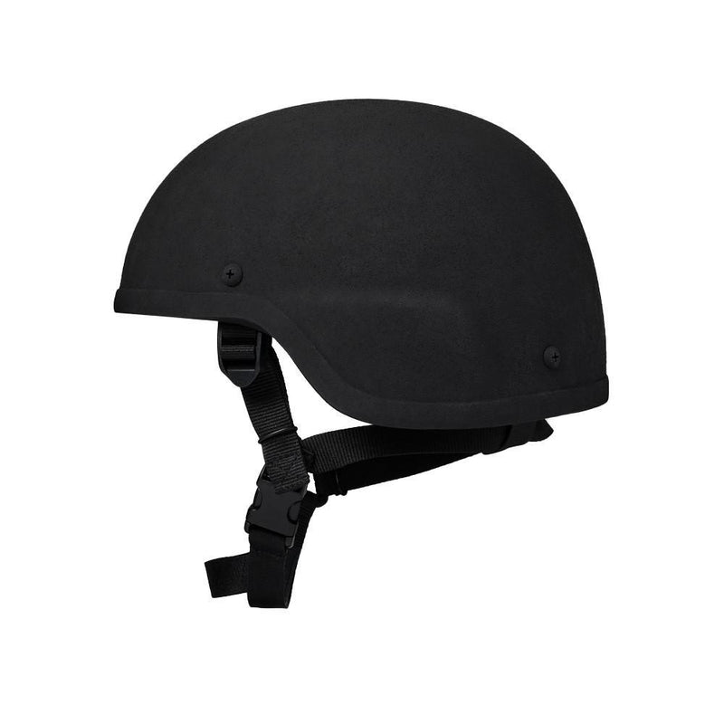 Side view of the Ar500 Armor ballistic protection helmet for civilians and law enforcement.