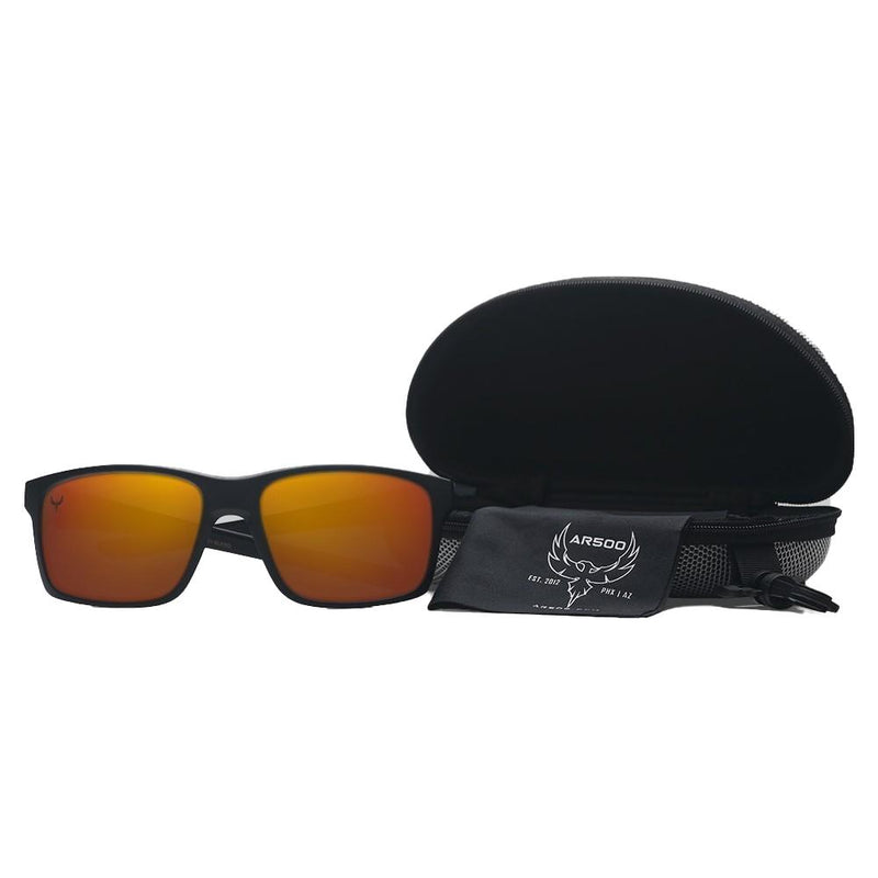 AR500 Armor® Shooting Glasses - Black/Orange