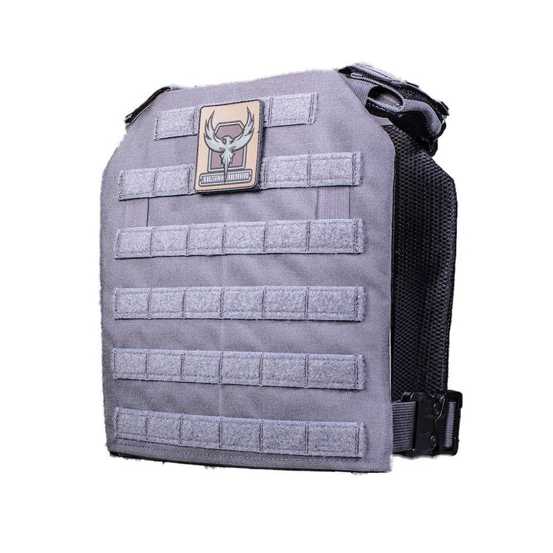 The AR500 Armor Guardian plate in the color gray.