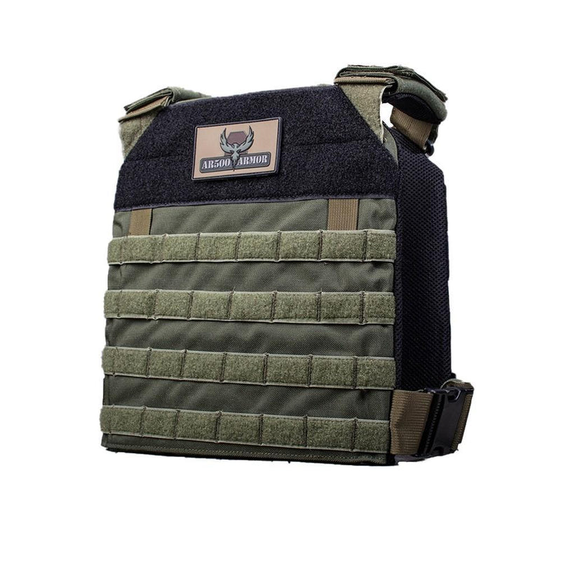 "The AR500 Armor Guardian plate carrier for the standard 10"" x 12"" body armor."