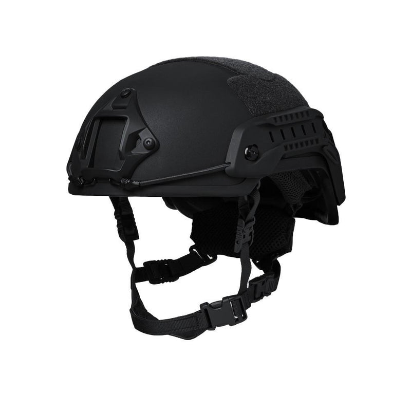 Side view of the NIJ Level IIIA ballistic head protection for law enforcement, military, professionals and civilian use.