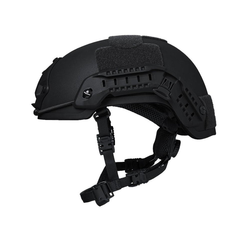 Side view of the AR500 Armor Patriot Helmet that offers ballistic protection for police, security and law enforcement.