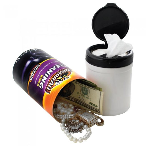 Armor All Wipes safe container with hidden compartment you can safely hide valuables inside the secret compartment.