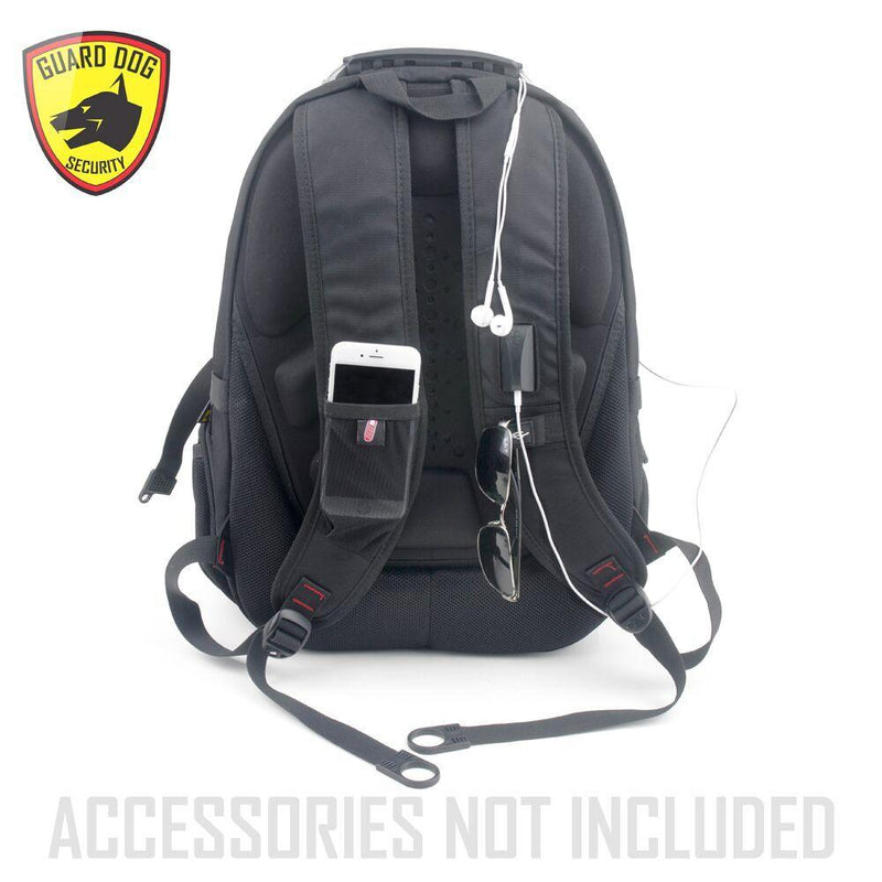 Black bulletproof backpack for boys and girls personal protection.