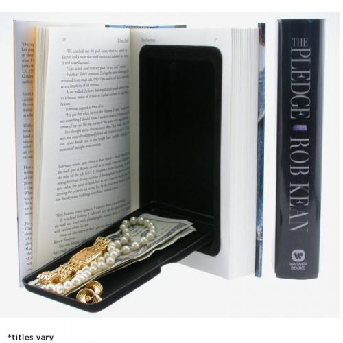Wholesale bulk pricing for case of 20 Book Safes with hidden secret compartment for sales counter impulse buys.