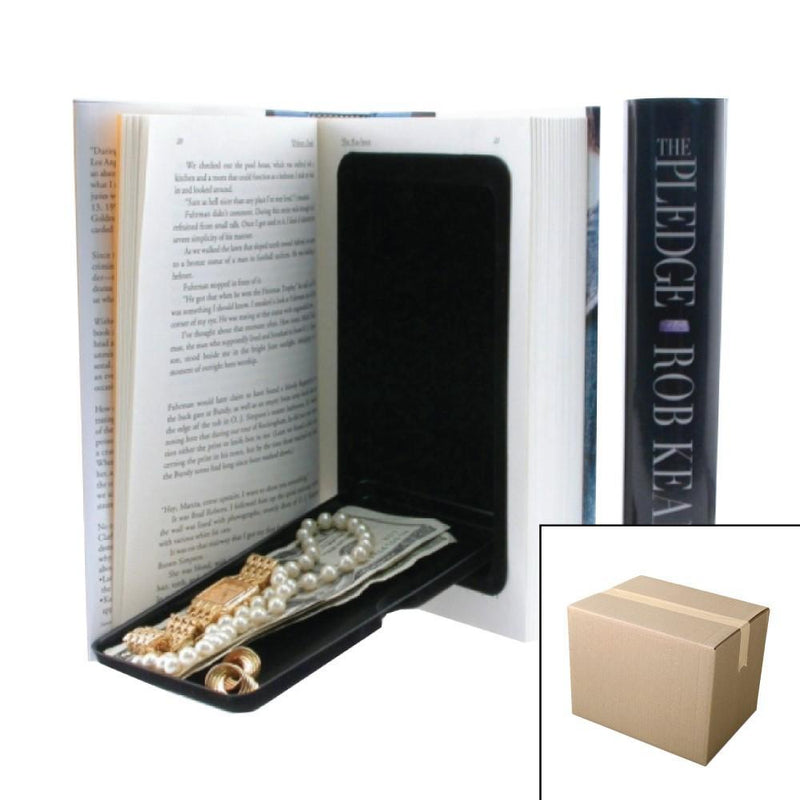 Wholesale bulk pricing for case of 20 Book Safes with hidden secret compartment to safely hide valuables inside.