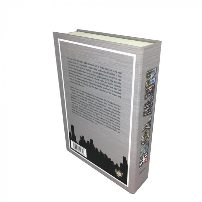 Bulk wholesale on line offer for the Streetwise new york book safe with key image shows back cover.