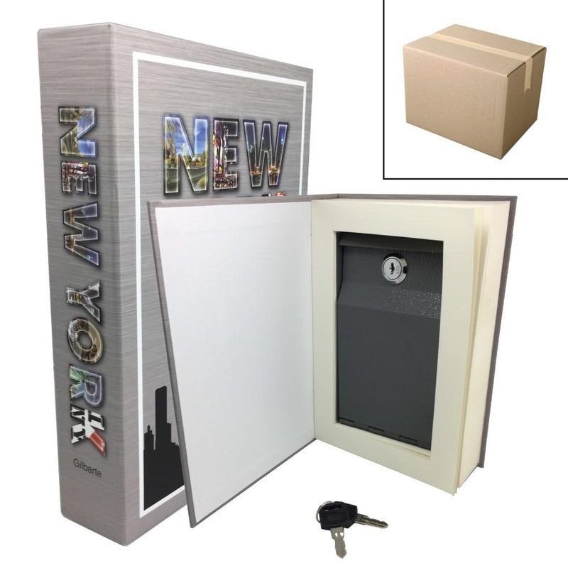 Bulk wholesale on line offer for the Streetwise new york book safe with key to safely hide valuables.