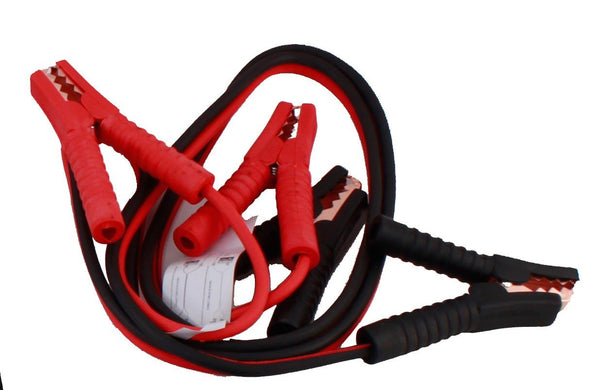 Car battery jumper cables good idea to own two pairs; one set for everyday availability and one set kept with your emergency survival kit.