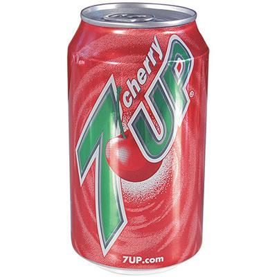 Cherry 7UP can with hidden compartment to safely hide valuables inside.