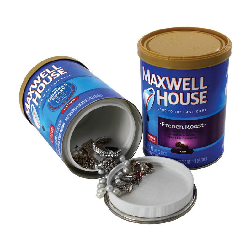 Diversion safe cans with hidden compartment for hiding valuables, prescriptions, cash and more inside safely.