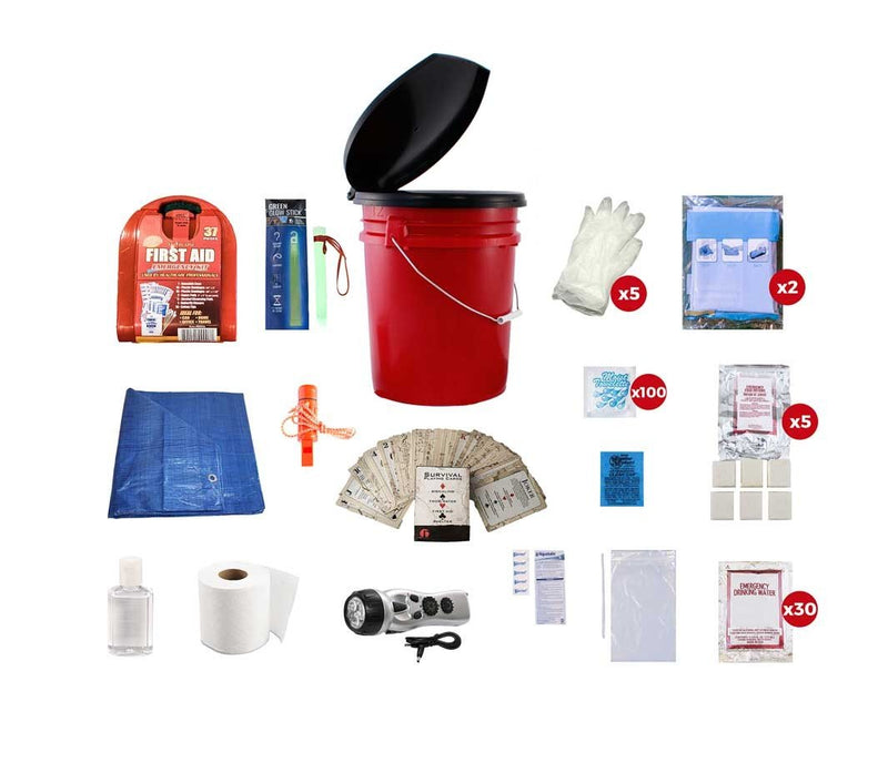 This Classroom Lockdown Kit includes everything you would need to allow a class of 30 people to get through an emergency lockdown.