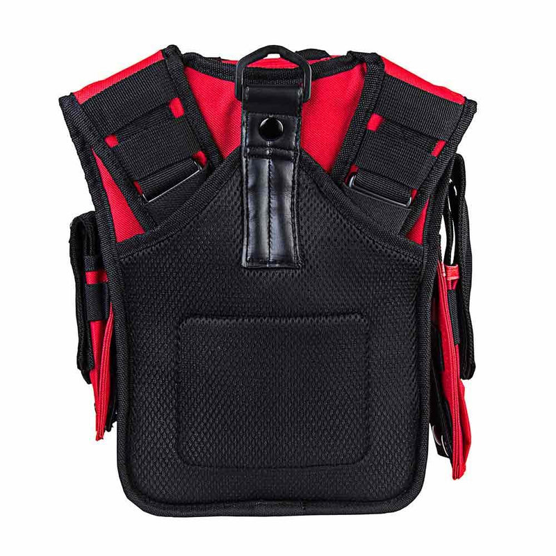 First responder bag has plenty of space shown backside with padding to be worn comfortably for hours if needed.