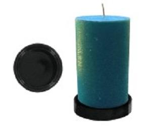 Self Defense Products Inc Accessory Wood Black Glass Holder for Candle Safes