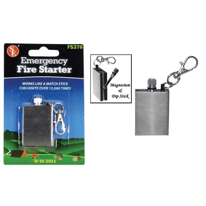 Instant Fire Starter includes flint sparking rod and can ignite over 15,000.