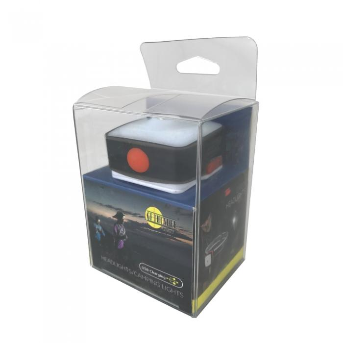 Ship packaging for the Streetwise Security Multi-functional Rechargeable USB Headlamp
