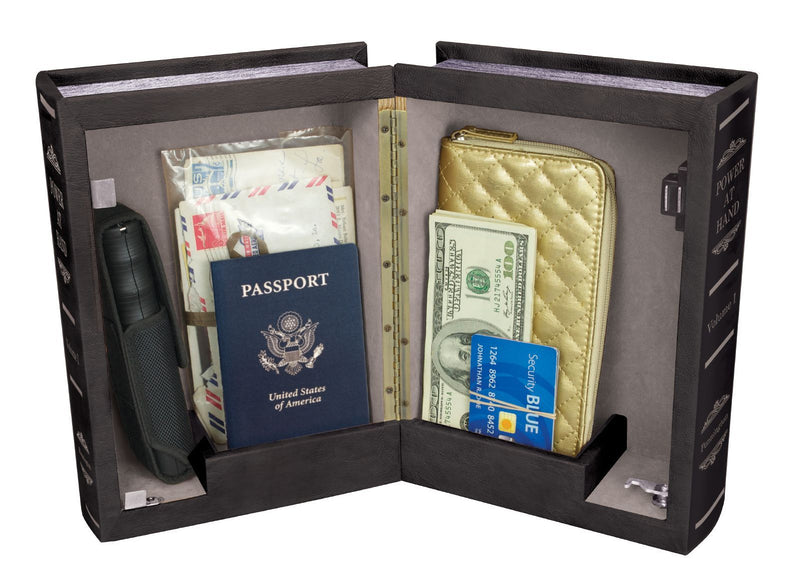 Double diversion safe book with hidden compartment to safely hide valuables inside.