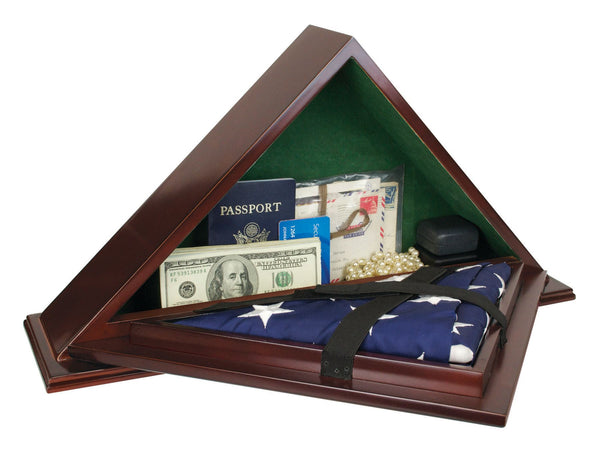 Patriot Flag Case with Concealment Compartment to safely hide valuables or handgun inside.