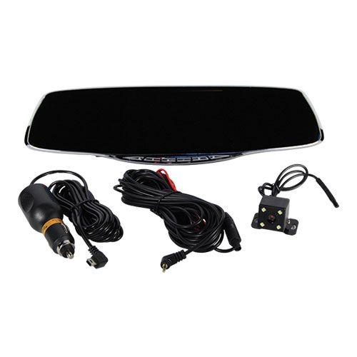 All of the parts for the rear view mirror with hidden spy cameras for use with cars, trucks and vehicles.