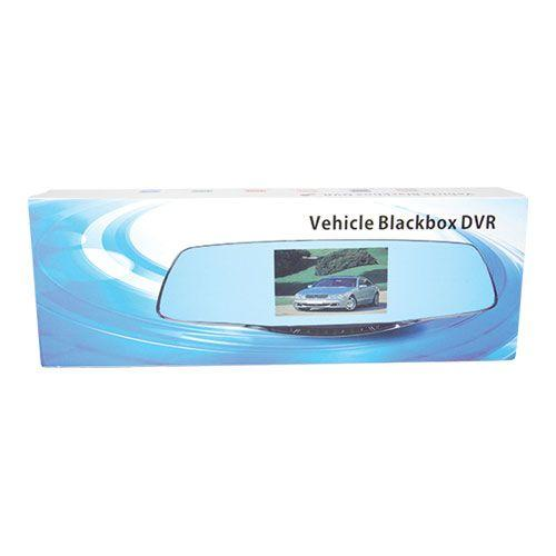 Manufacturer package for the rear view mirror with hidden camera to safely ship the camera to arrive in new condition.