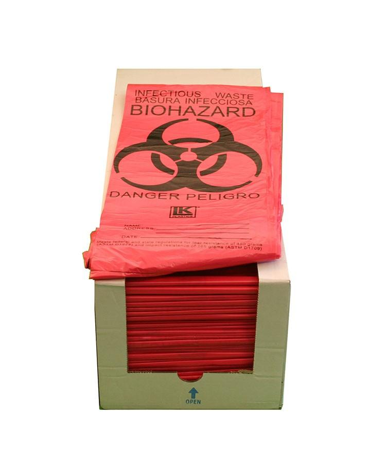 Each case comes with 500 Infectious-Waste Bags to bag hazardous or infectious items to include with your emergency preparedness survival kits.