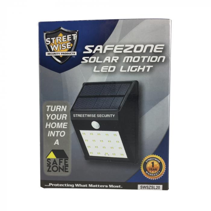 Packaging for the Streetwise Safe Zone LED light so they can be secure and safely ship to on line customers.