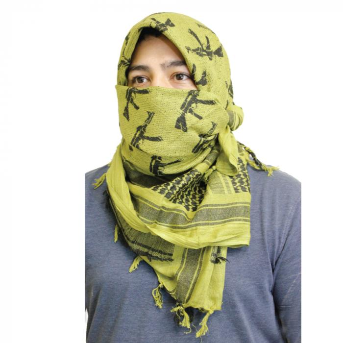 Shemagh offers head & face protection against harsh elements and some protection when in the public.