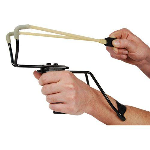 Large professional high velocity slingshot for men and women ages 16 or higher.
