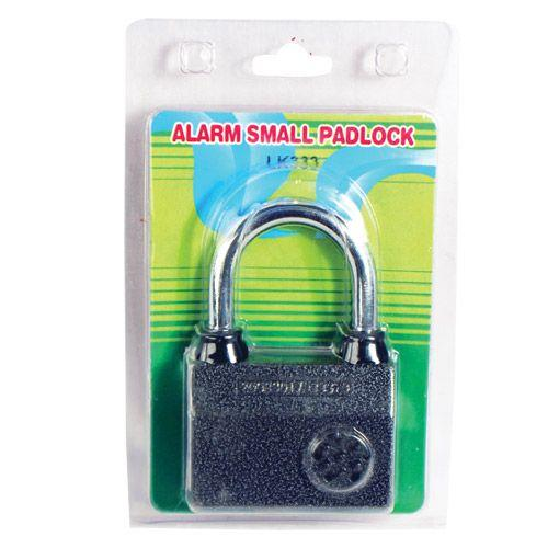 Manufacturer packaging for the small sized armed padlock so it can be shipped safely while in transit.