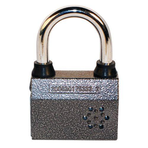 Small sized armed padlock with motion sensor for bicycles, motor bikes and home security such as gates and more.