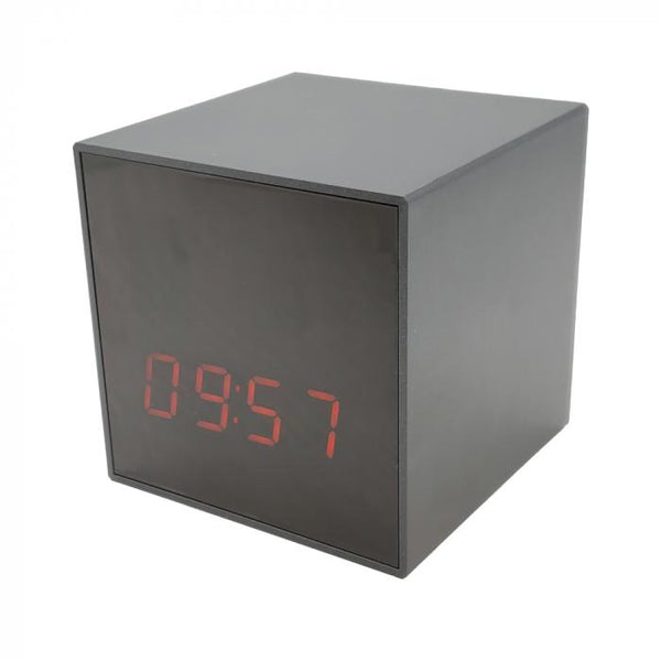 Discrete surveillance the Smart Cube Clock with hidden spy camera that includes WiFi DVR.