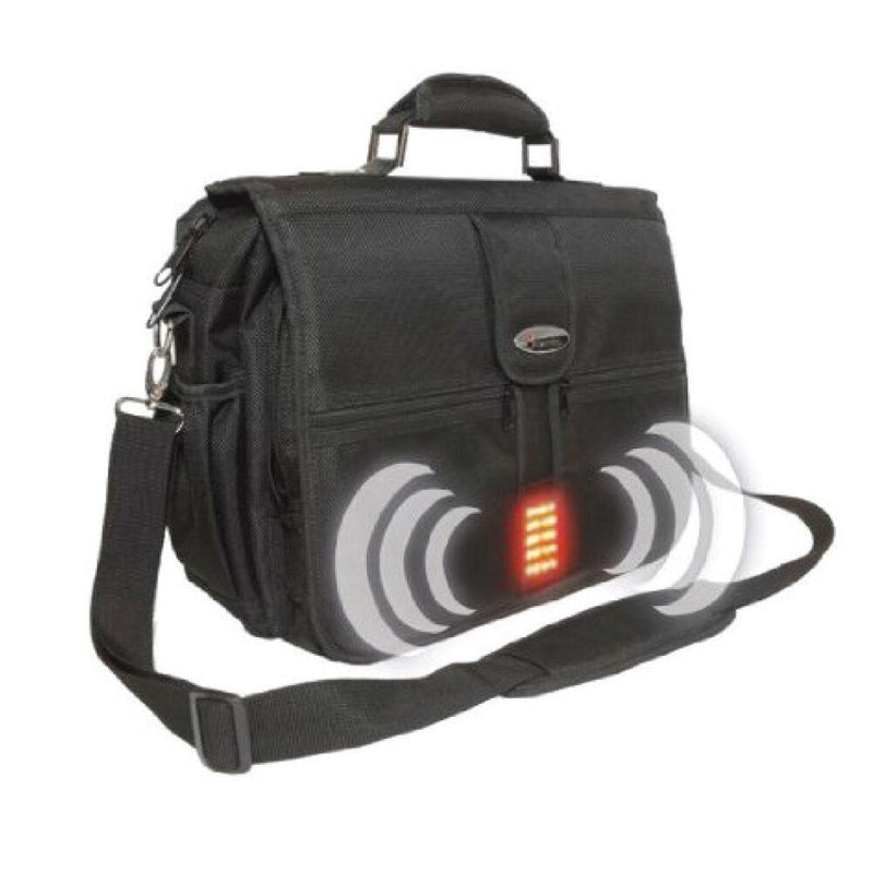The world's first bulletproof laptop bag with alarm and strobe light, lightweight armor ballistic protections.