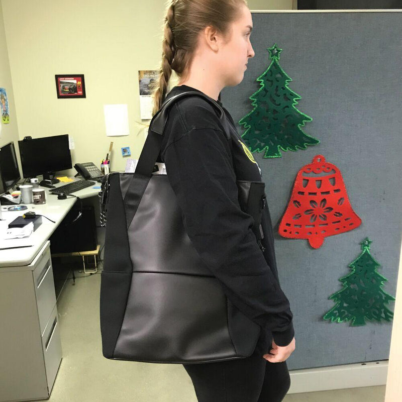 Shopping bag for women personal safety that offers bulletproof ballistics protection.