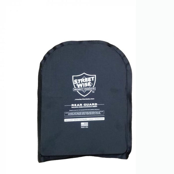 Streetwise Security Rear Guard 10 x 14 inch bulletproof backpack insert offers ballistic protection when needed.