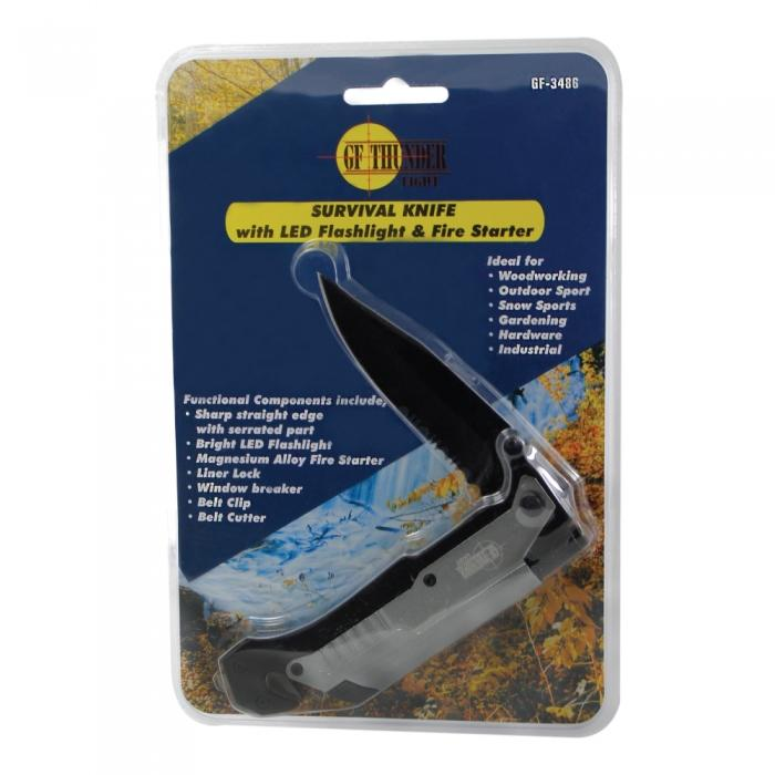 Survival knive for emergency kits and carry in cars and vehicles.