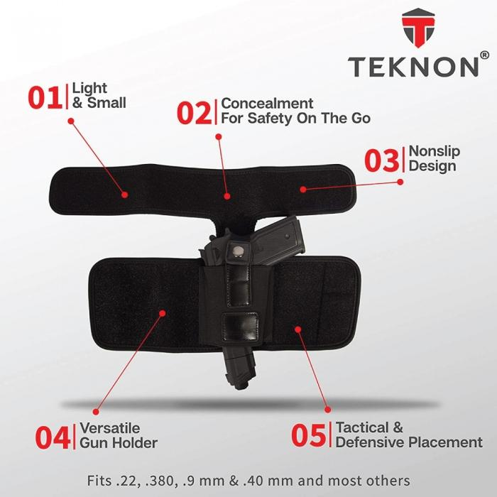 Teknon Concealed Carry Ankle Holster Calf Strap
