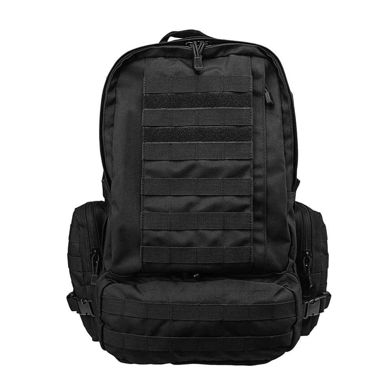 The Vism 3013 3-Day backpack for outdoors use and survival kits in the color black.