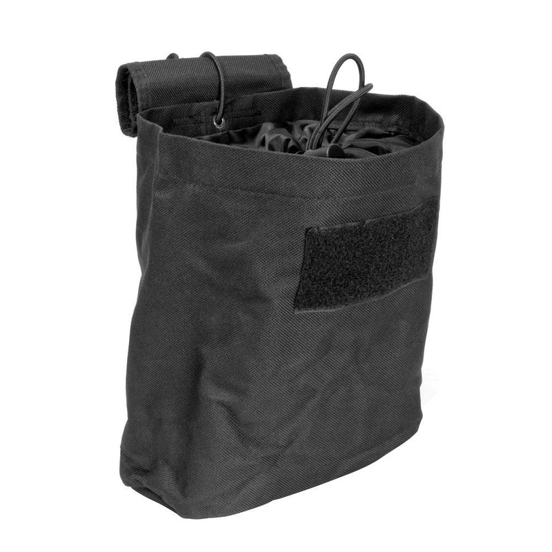 The Vism folding dump pouch color black for police and security.