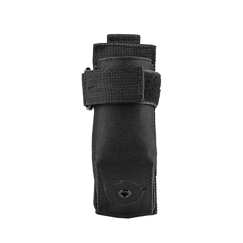 The Vism molle flashlight pouch color black for law enforcement and civilian use.