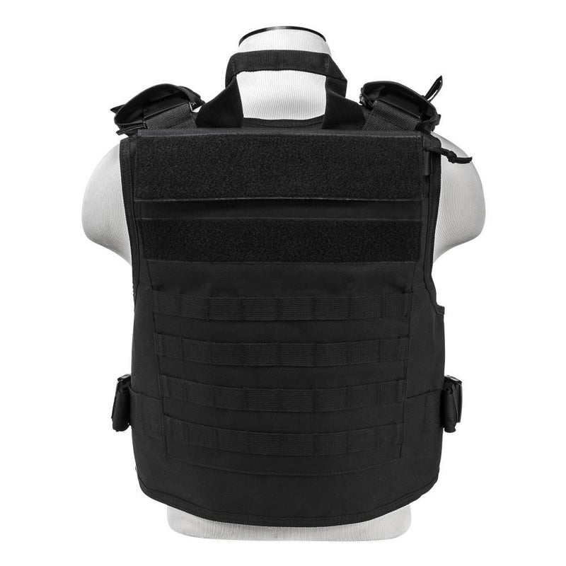 Vism Plate Carrier w/External Pockets Med - 2 XL - Black
