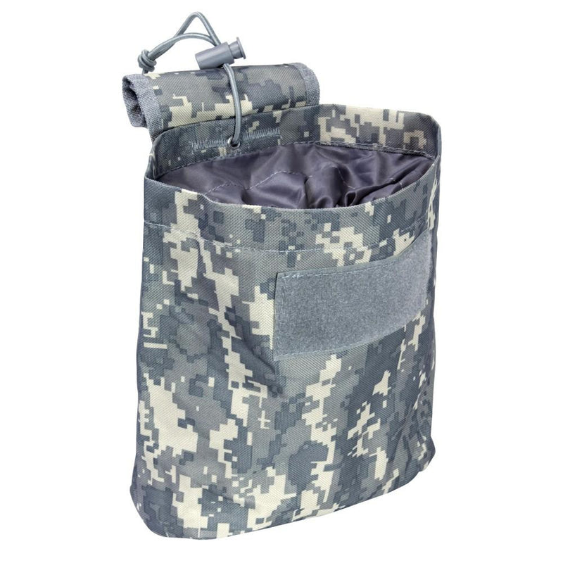The Vism folding dump pouch color digital camo for police and security.