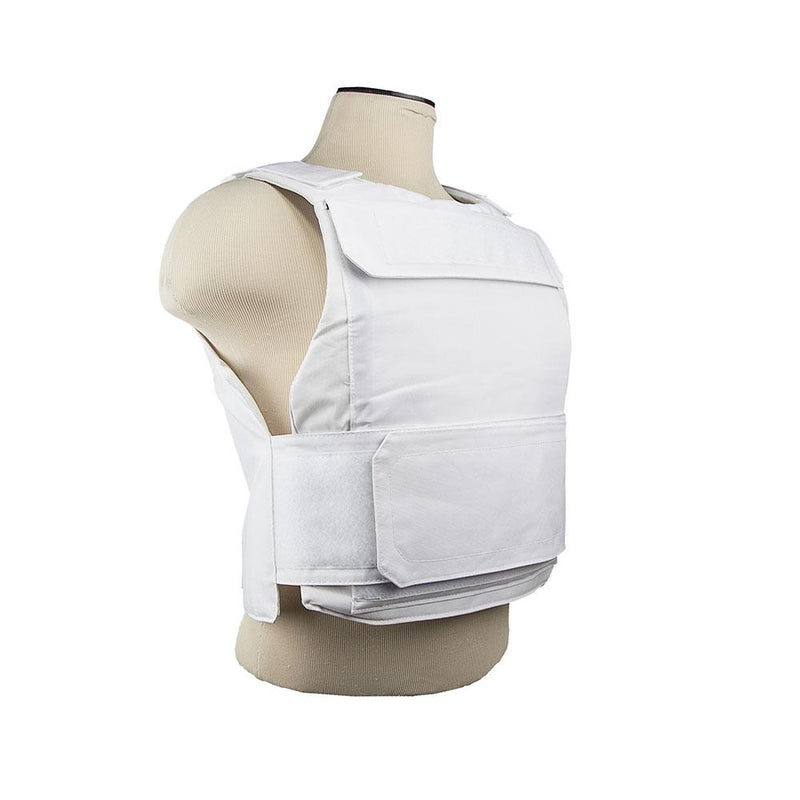 The Vism color white discreet plate carrier White one size for medium to 2 x-large for law enforcement and civilian use.