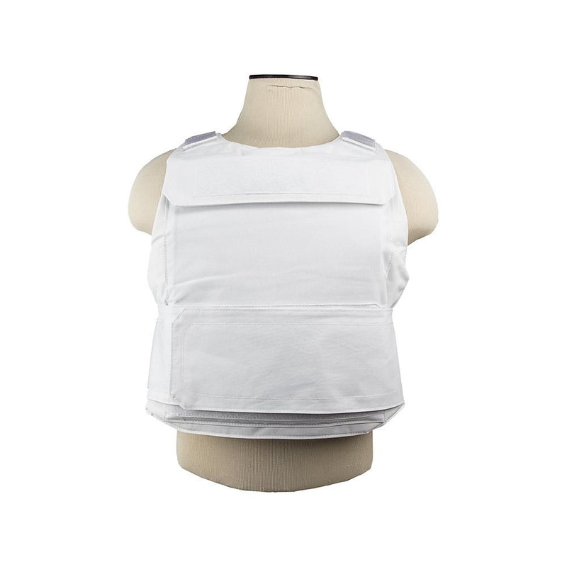 The Vism color white discreet plate carrier White one size for medium to 2 x-large.