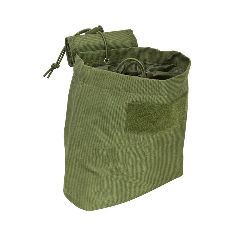 The Vism folding dump pouch color green for law enforcement and civilian use.