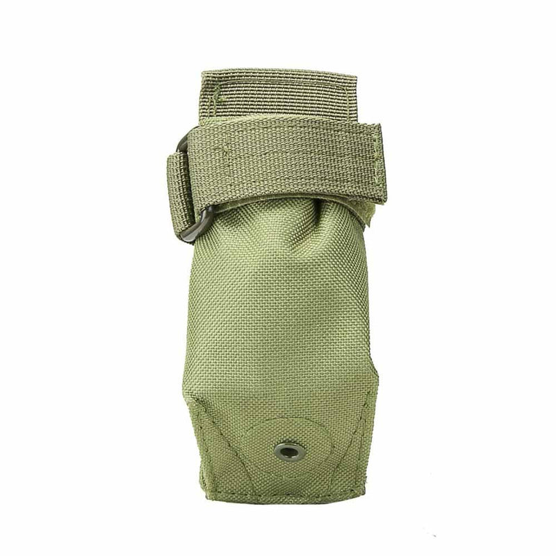 The Vism molle flashlight pouch color green for law enforcement and civilian use.