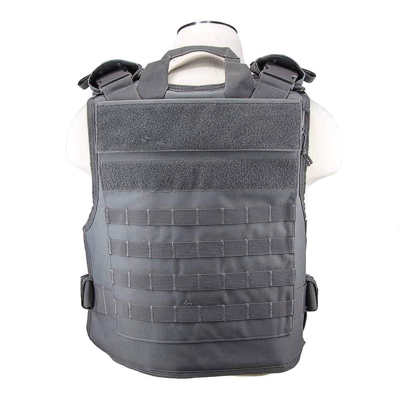 The Vism plate carrier with external hard plate pockets for women and men personal protection.