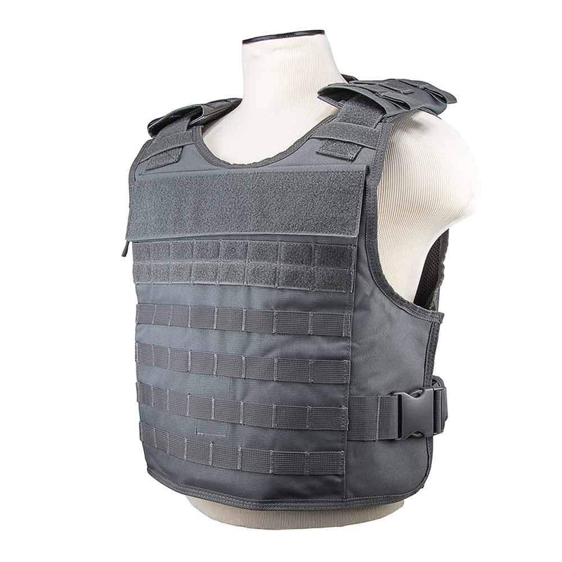 The Vism plate carrier with external hard plate pockets for civilian and police use.